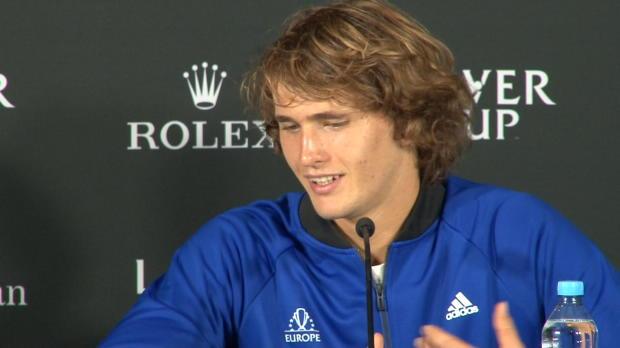 Laver Cup: Zverev schwärmt von Federer und Nadal