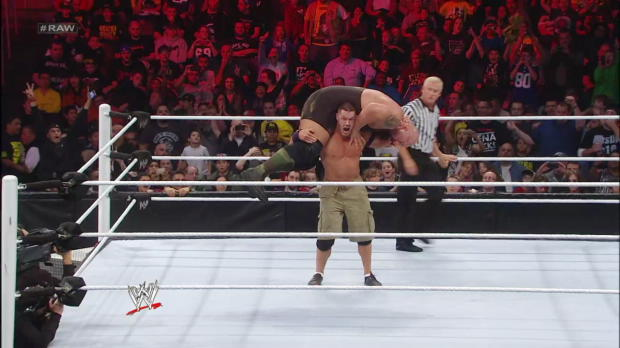 The Shield attacks John Cena: Raw, Dec. 10, 2012