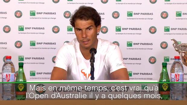 : Roland-Garros - Nadal - 'Un Roland-Garros parfait'