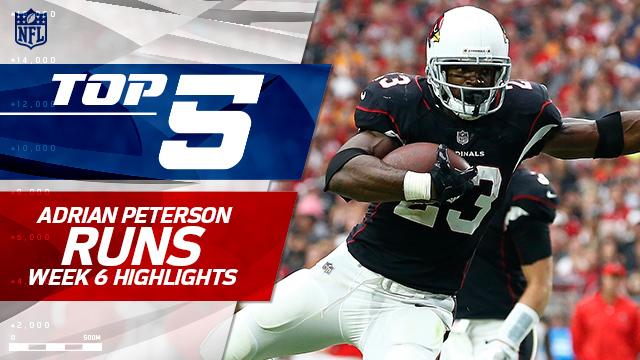 Adrian Peterson's Top 5 Runs | Week 6