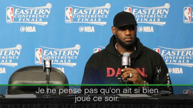 "Basket : NBA - Play-offs - James - ""On n'a pas si bien joué"""