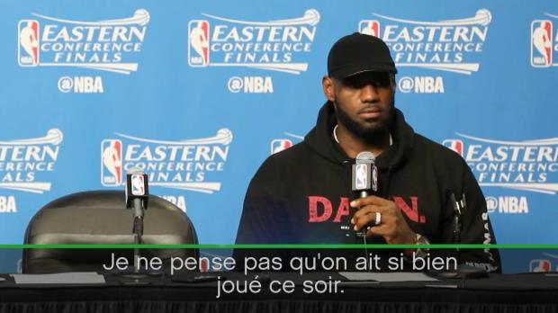 "Basket : NBA - Play-offs - James - ""On n'a pas si bien joué"""