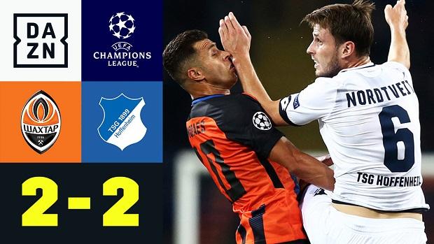 UEFA Champions League: Schachtjor Donezk - TSG Hoffenheim | DAZN Highlights