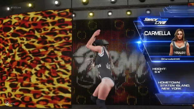 WWE 2K19 Carmella entrance video