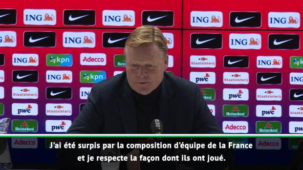 Pays-Bas - Koeman - 'Un match parfait de notre part'