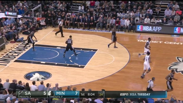 WSC: Highlights: Karl-Anthony Towns (25 points) vs. the Spurs, 3/21/2017