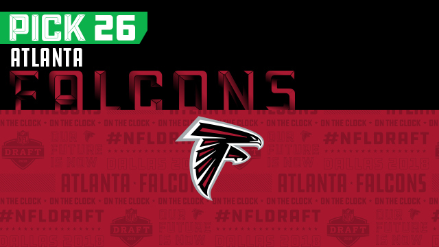 Falcons pick No. 26 | NFL Mock Draft Live