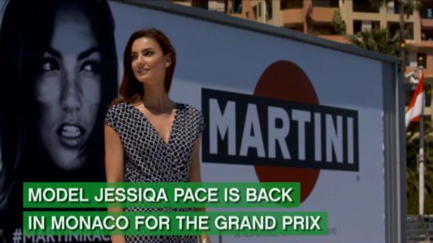 لقطة: محركات: اللوحة الإعلانية لعارضة أزياء تعود لسباق جائزة موناكو الكبرى