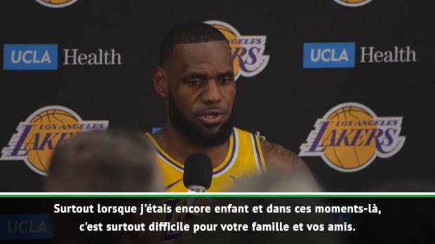 """Basket : Lakers - LeBron - """"Changer d'endroit représente toujours un défi"""""""