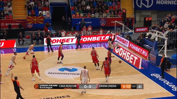 Basket : Euroligue (30e j.) - Lessort et l'Étoile Rouge renversés par le CSKA