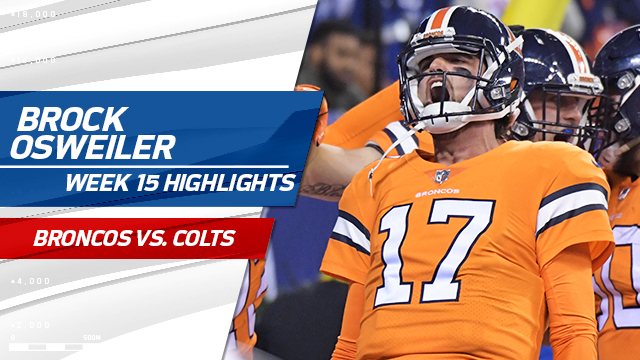 Brock Osweiler highlights | Week 15