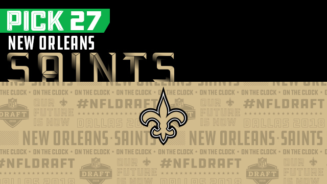 New Orleans Saints pick No. 27 | NFL Mock Draft Live