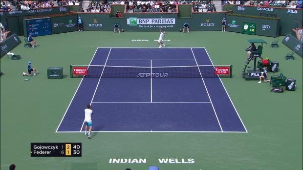 : Indian Wells - Federer bat Peter Gojowczyk au 2e tour (6-1, 7-5)