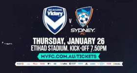 Second-placed Melbourne Victory will host league leaders Sydney FC at Etihad Stadium on Australia Day.
