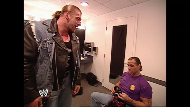 Triple H surprises Shawn Michaels ... twice: Raw, July 22, 2002