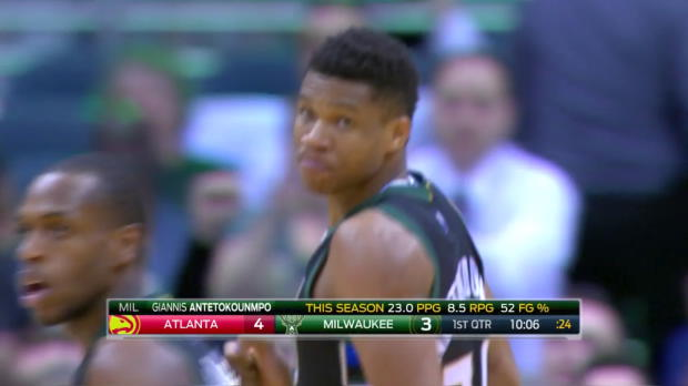 WSC: Highlights: Giannis Antetokounmpo (34 points) vs. the Hawks, 3/24/2017