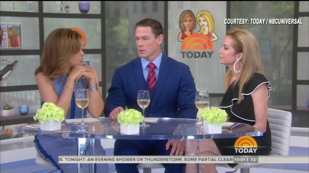 "John Cena has an emotional conversation about Nikki Bella with Kathie Lee Gifford and Hoda Kotb for a second day on NBC's ""Today"""