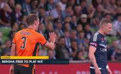 Victory striker Besart Berisha is free to face Wellington on Tuesday night after his red card was overturned on Sunday afternoon.