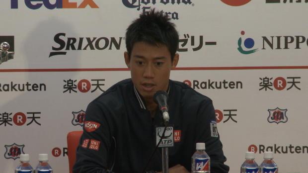 "Tokio - Nishikori: ""El primer set ha sido clave"""
