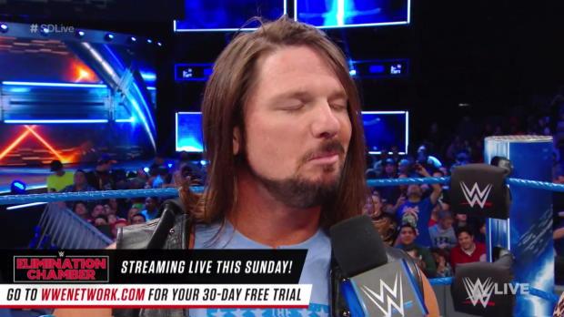 AJ Styles addresses the WWE Title Fatal 5-Way Match at WWE Fastlane: SmackDown LIVE, Feb. 20, 2018