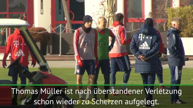 Die Bayern atmen auf: Müller wieder im Training