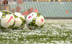 Pirtek Stadium was hit with a massive hail storm prior to Western Sydney's clash with Perth.