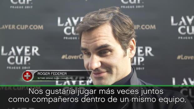 """Laver Cup - Federer, """"encantado"""" de formar pareja con Rafa Nadal"""