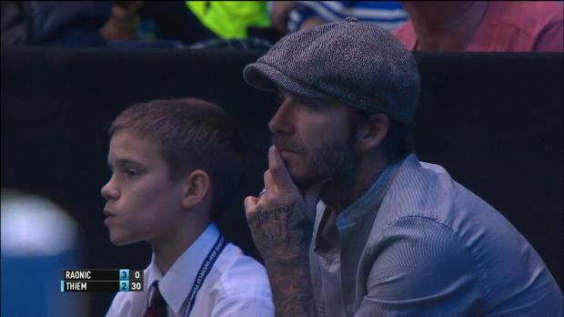 London: Beckham sieht Raonic-Halbfinaleinzug