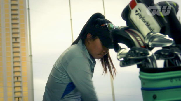 Danielle Kang at Top Golf Las Vegas: 150 yard shots