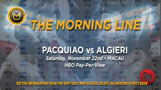 Linemakers Morning Line Pacquiao Vs. Algieri
