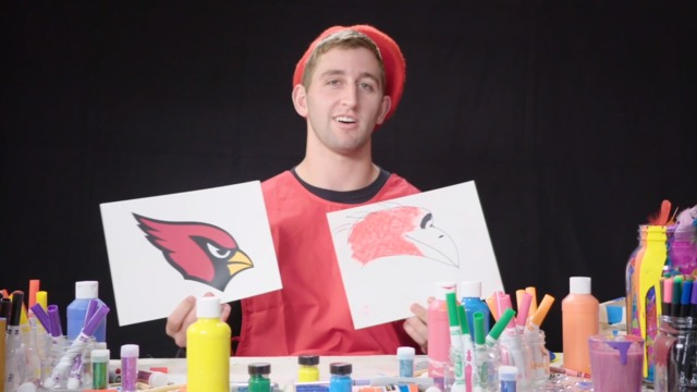 Watch 2018 NFL rookies attempt to draw their team logos