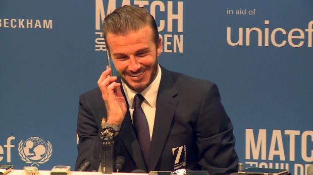 Aufgelegt: Telefon-Spaß auf Beckham-PK
