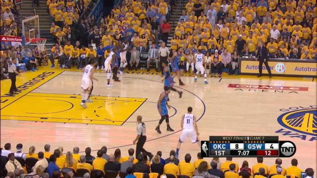 Curry mit 36 Punkten gegen die Oklahoma City Thunder