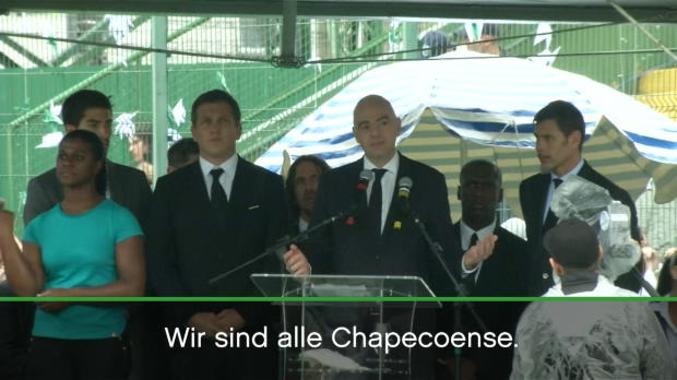 "FIFA: Infantino: ""Wir sind alle Chapecoense"""