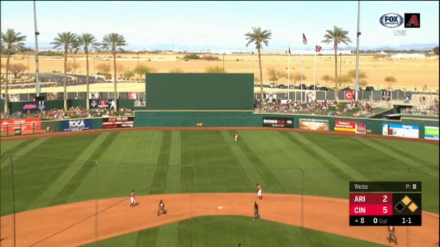 Walker's RBI double off the wall