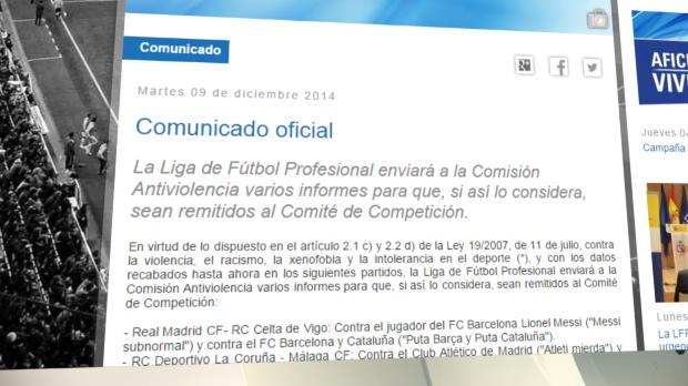 La LFP denuncia al Real Madrid, Barcelona, Deportivo, Rayo Vallecano y Granada