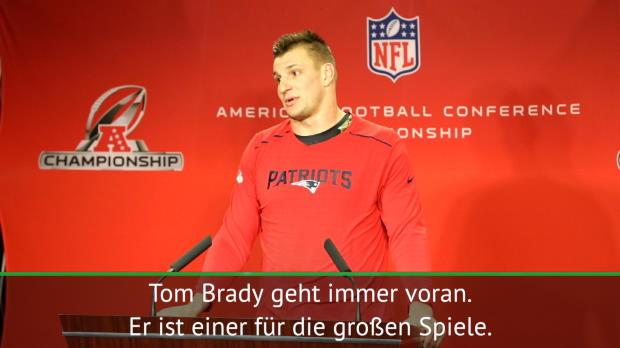"""Gronkowski über Brady: """"Geht immer voran"""""""