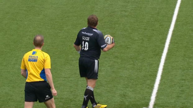 Aviva Premiership - Andy Goode talks to the referee