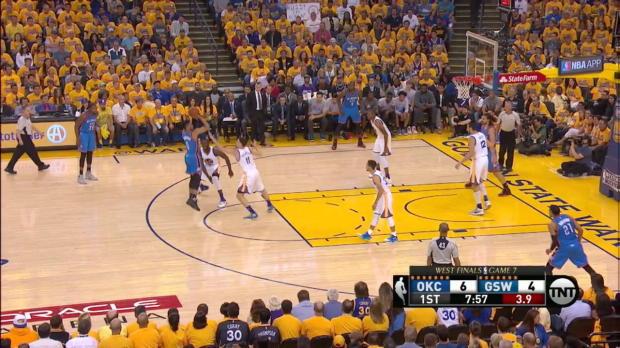 Die Stars im Duell: Thompson und Curry gegen KD und Westbrook