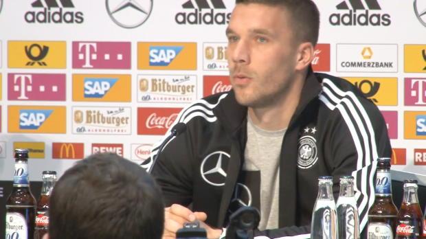 Podolski und Löw: Die letzte Pressekonferenz