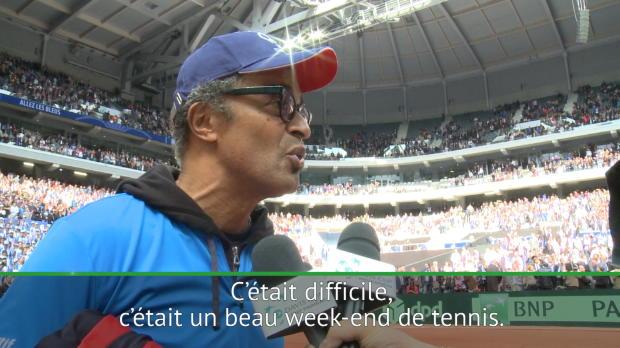 """Tennis : Coupe Davis - Noah - """"Jo a joué comme un champion"""""""