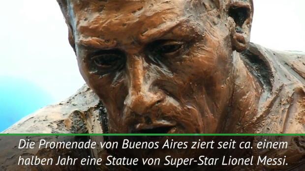 Argentinien: Vandalen zerstören Messi-Skulptur