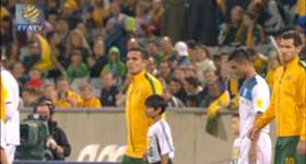 James Meredith says he was pleased with his debut for Australia against Kyrgyzstan.