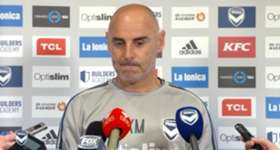 Kevin Muscat chats with the media before Melbourne Victory's trip to Adelaide for the FFA Cup Round of 16.