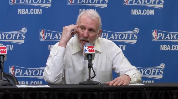 Basket : NBA - Play-offs - Popovich allume ses joueurs
