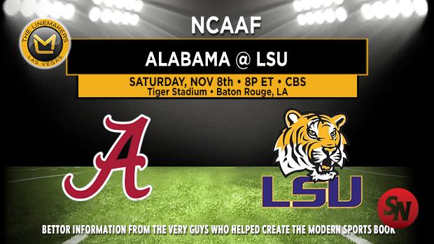 Alabama Crimson Tide @ LSU Tigers