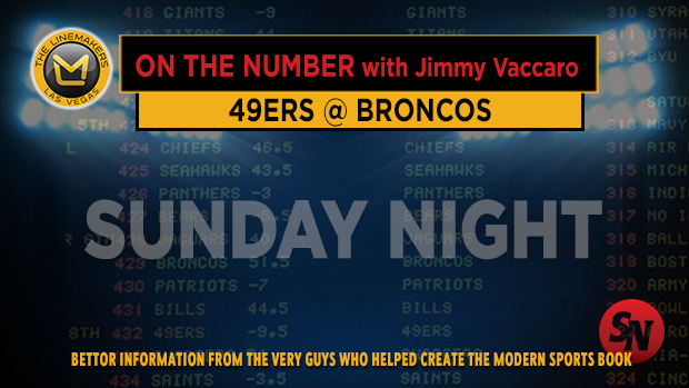 Jimmy V on 49ers @ Broncos