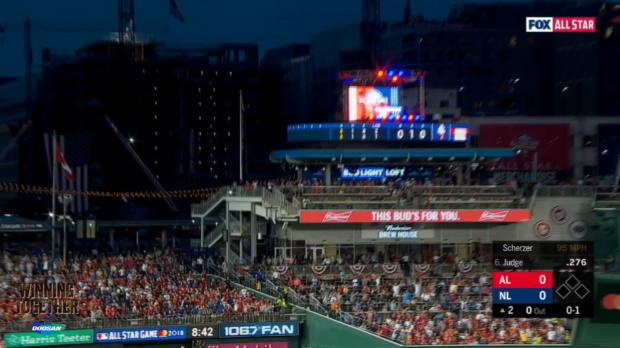 AL's 5 homers power victory