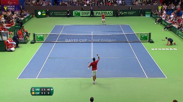 : NEWS - Coupe Davis - Djokovic offre un point facile à la Serbie