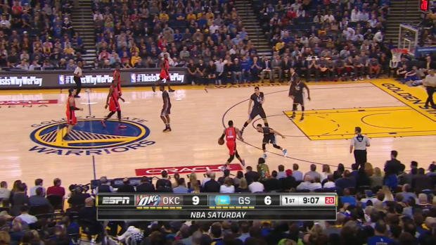 WSC: Russell Westbrook with 12 Assists against the Warriors